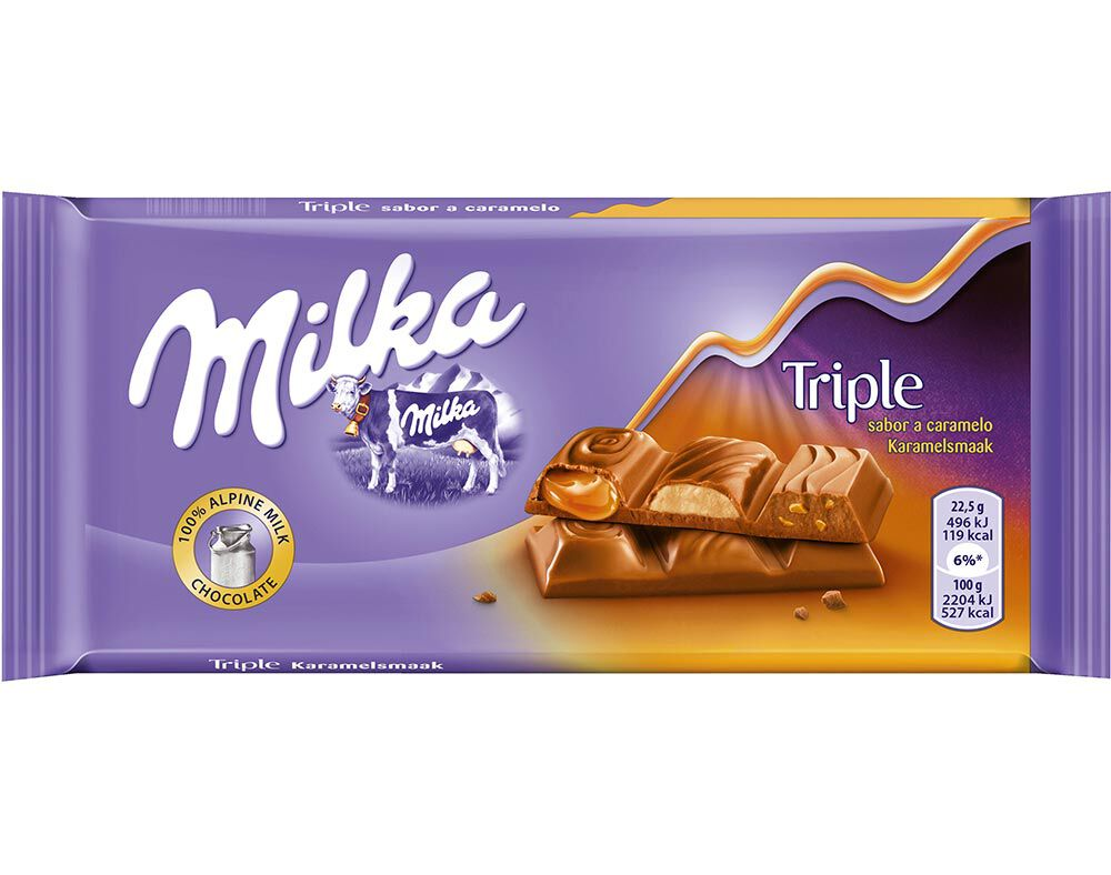 Milka Triple Caramelo 90g