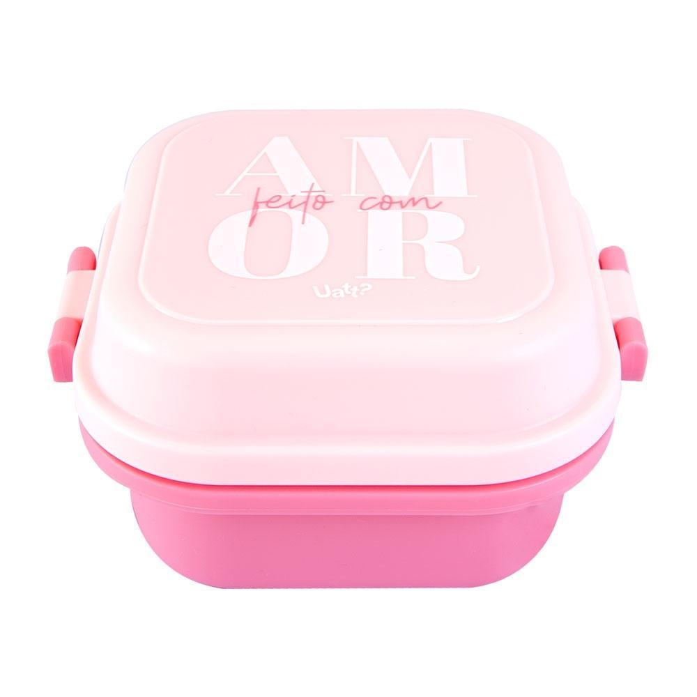 Mini Marmita Quadrada Cor de Rosa