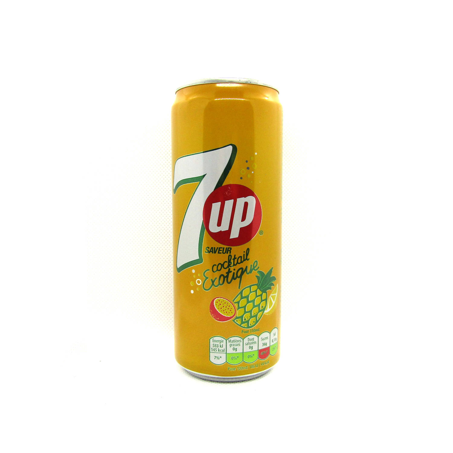 Refrigerante 7UP Cocktail  - Abacaxi e Maracujá  330ml