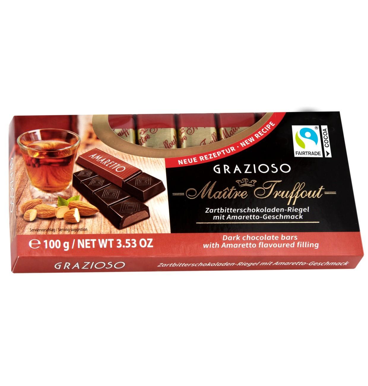 Tablete Chocolate Grazioso Amargo com Amaretto 100GR