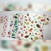 Camiseta Manga Curta Estampada c/6 unidades