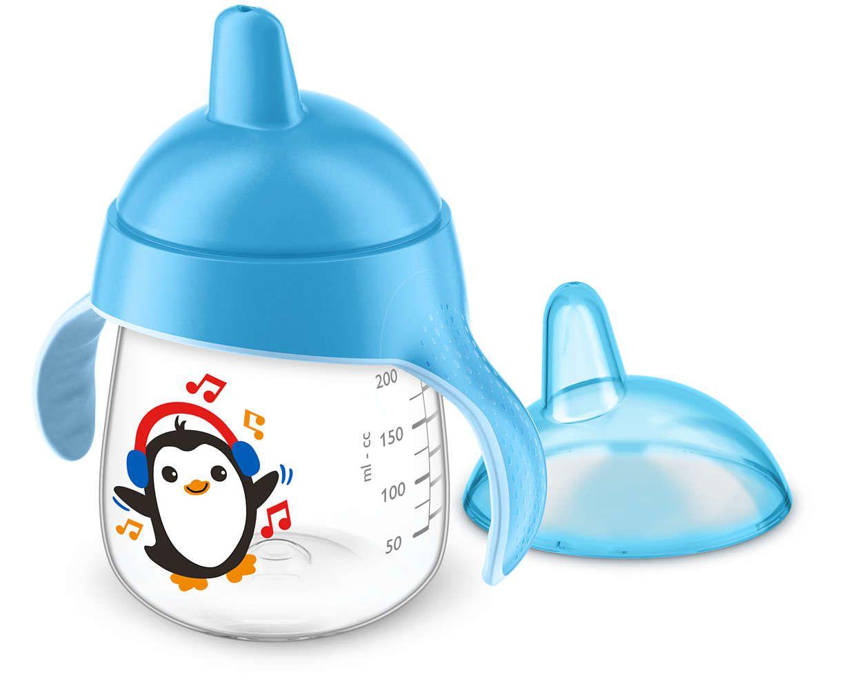 Copo Pinguim 260ml Azul  - 12M+ Avent