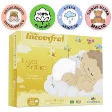 Fralda Incomfral Luxo Branca