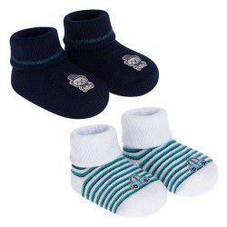 Kit c/2 pares de meias Recém -Nascido