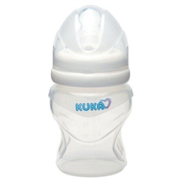 Mamadeira Soft Silicone com Bico Ortodôntico Branca 150ml - Kuka 0 á 6 meses
