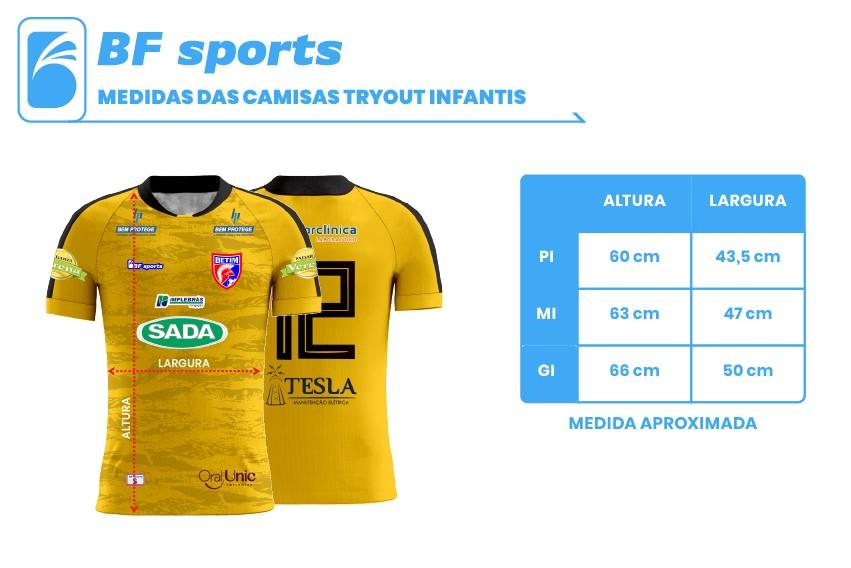 Camisa Of. Betim Futebol Goleiro Amarelo Infantil