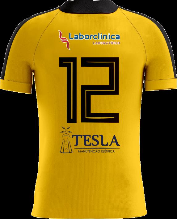 Camisa Of. Betim Futebol Goleiro Amarelo Masculina