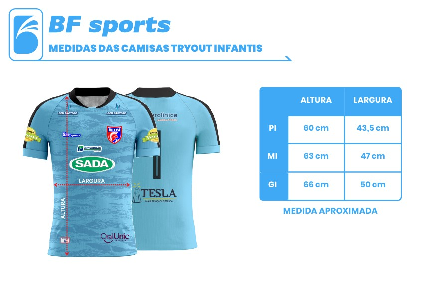 Camisa Of. Betim Futebol Goleiro Azul Infantil