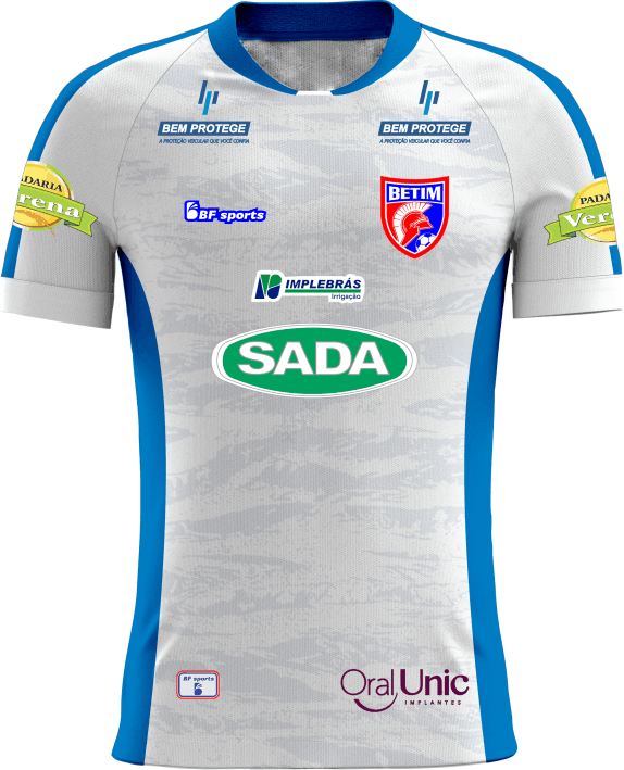 Camisa Of. Betim Futebol Jg1 Branca Infantil