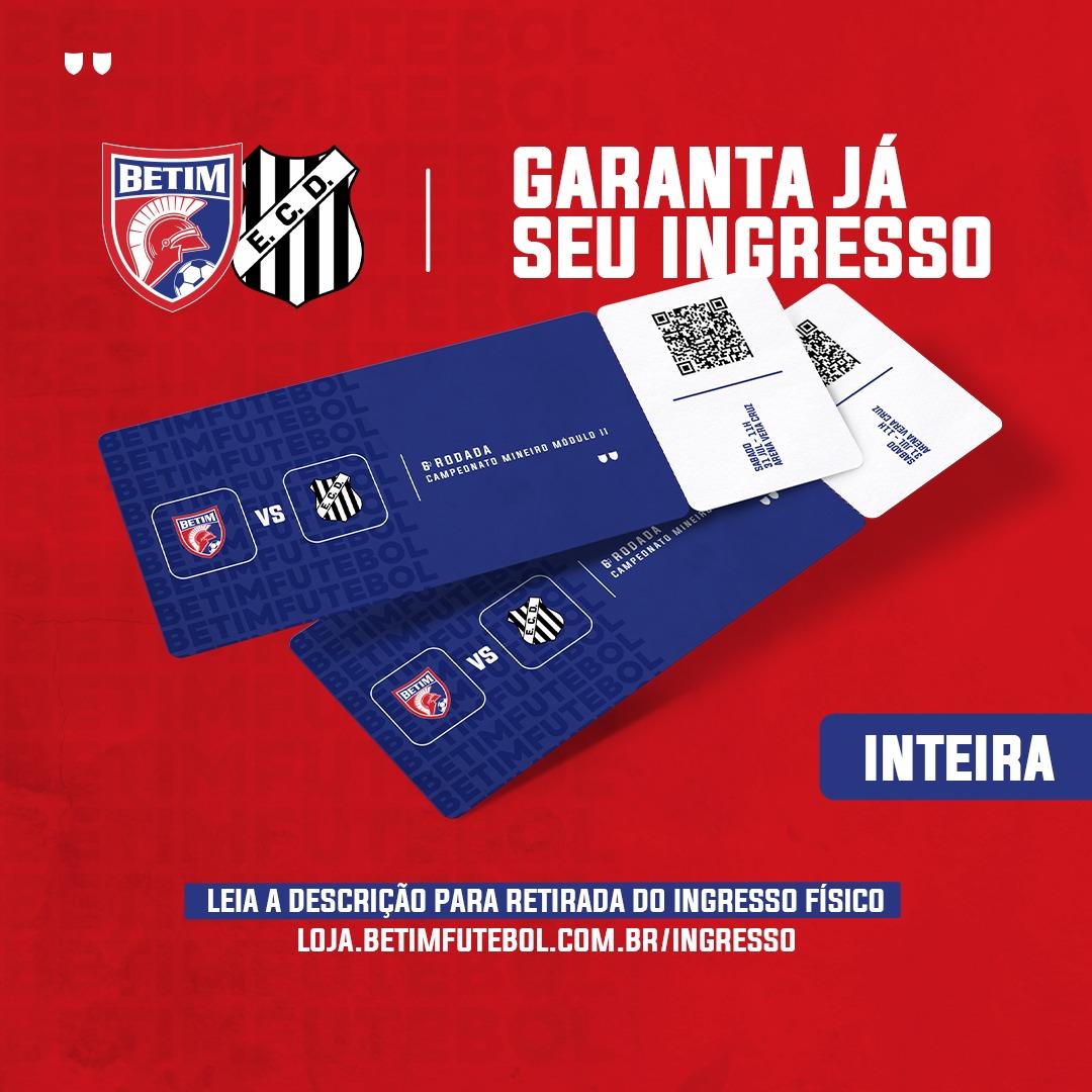 INGRESSO INTEIRA - Betim Futebol x Democrata G.V.