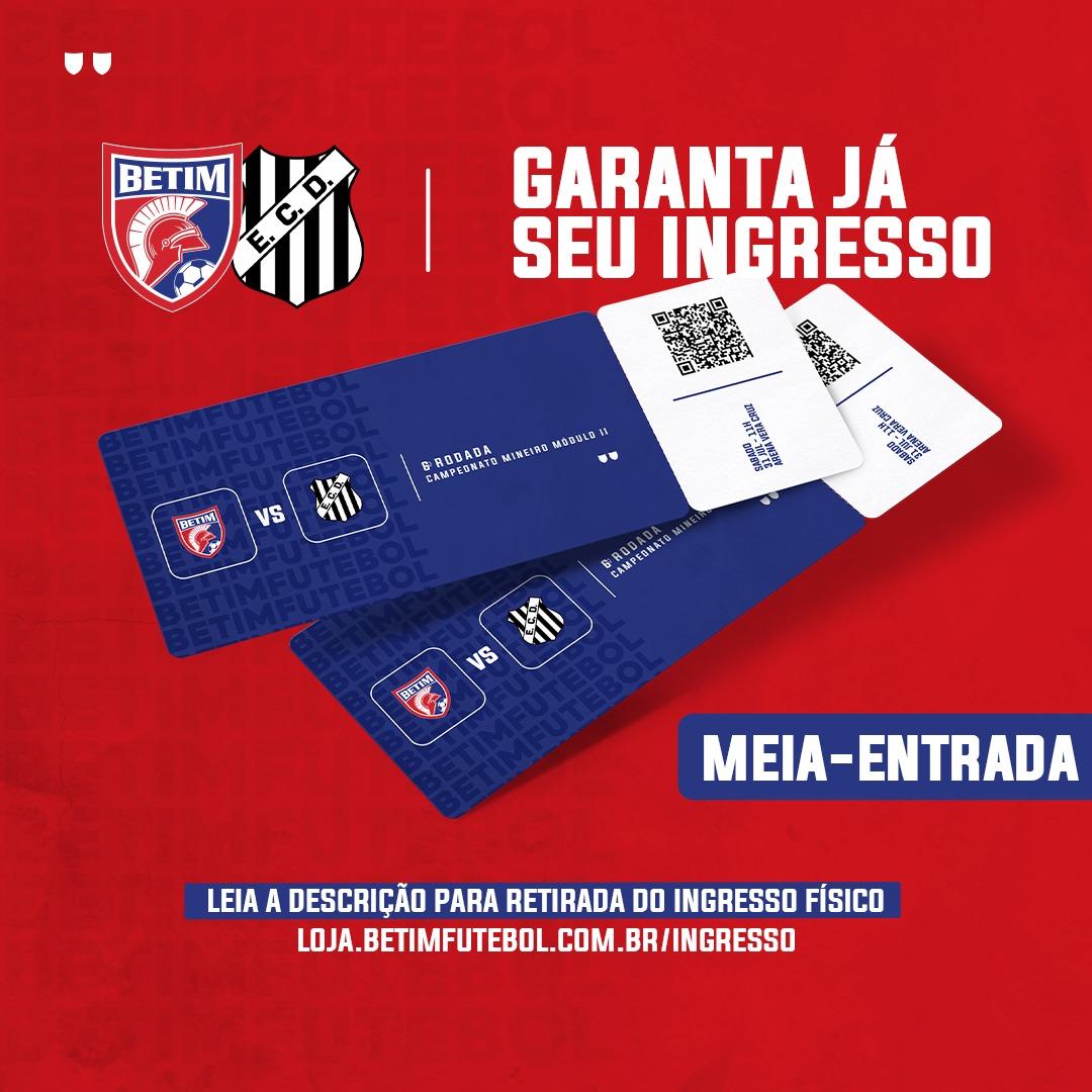 INGRESSO MEIA - Betim Futebol x Democrata G.V.