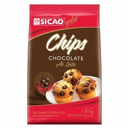 CHIPS FORNEAVEIS CHOCOLATE AO LEITE 1,01KG - SICAO