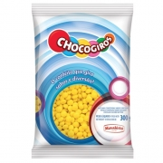 CHOCOGIROS - MINI PASTILHA SABOR CHOCOLATE AMARELA 300G - MAVALÉRIO