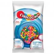 CHOCOGIROS - MINI PASTILHA SABOR CHOCOLATE COLORIDA 500G - MAVALÉRIO