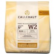 CHOCOLATE BRANCO 28%  (W2) EM GOTAS - 400 GR - CALLEBAUT