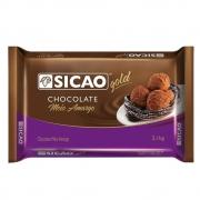 CHOCOLATE SICAO GOLD MEIO AMARGO EM BARRA 2,1KG