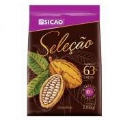 CHOCOLATE SICAO SELEÇÃO MEIO AMARGO 63% EM GOTAS 2,05KG