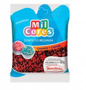 CONFEITO MIÇANGA PRETA E VERMELHA N°0 MIL CORES  150G - MAVALÉRIO