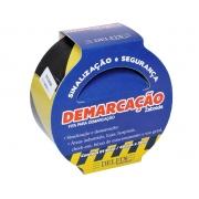 FITA DEMARCAÇAO DE SOLO 48MMX15M AMARELA/PRETA C/2RL - DELFIX