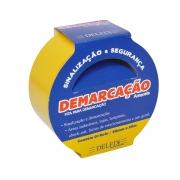 FITA DEMARCAÇAO DE SOLO 48MMX30M AMARELA C/2RL - DELFIX