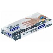 LUVA VINILFLEX (M) SEM PÓ TRANSPARENTE C/100UNID - BOMPACK