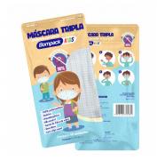 MÁSCARA TRIPLA KIDS ESTAMPADA C/10UN - BOMPACK