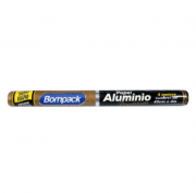 PAPEL ALUMÍNIO BOMPACK PREMIUM EXTRA FORTE 45CMX4M