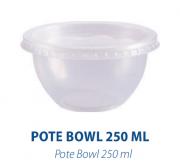 Pote Bowl 250ml C/ Sobretampa - - Freezer e Microondas  - Com 20 Unidades