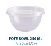 POTE BOWL 250ML C/ SOBRETAMPA - FREEZER E MICROONDAS  - com 240 unidades