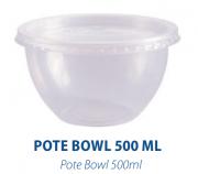 POTE BOWL 500ML C/ SOBRETAMPA - FREEZER E MICROONDAS  -  com 20 unidades
