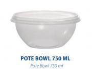 POTE BOWL 750ML C/ SOBRETAMPA - FREEZER E MICROONDAS  -  com 20 unidades