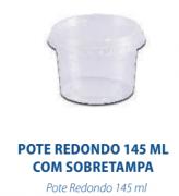 POTE REDONDO 145ML COM TAMPA - FREEZER E MICROONDAS  - com 24 unidades