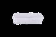 POTE RETANGULAR COM LACRE 350ML - FREEZER E MICROONDAS - com 200 unidades - PRAFESTA
