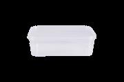 POTE RETANGULAR COM LACRE 500ML - FREEZER E MICROONDAS - com 10 unidades - PRAFESTA