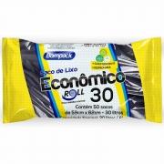 SACO DE  LIXO BOMPACK 30LT ECONÔMICO C/50UN