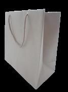 Sacola Kraft com alça de Nylon  20cm x 20cm - 50 unidades