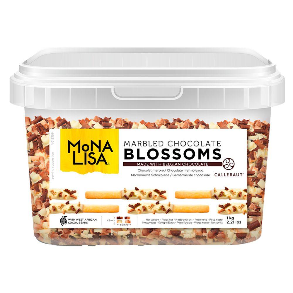 BLOSSOMS DUO (AMARGO COM BRANCO) - 1 KG - MONALISA CALLEBAUT  - Santa Bella