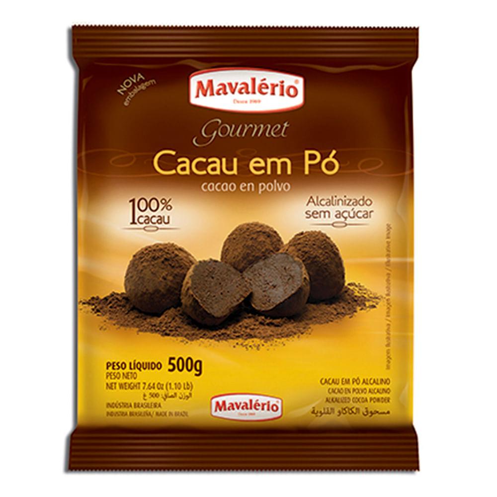 CACAU 100% EM PÓ ALCALINO 500G - MAVALÉRIO  - Santa Bella