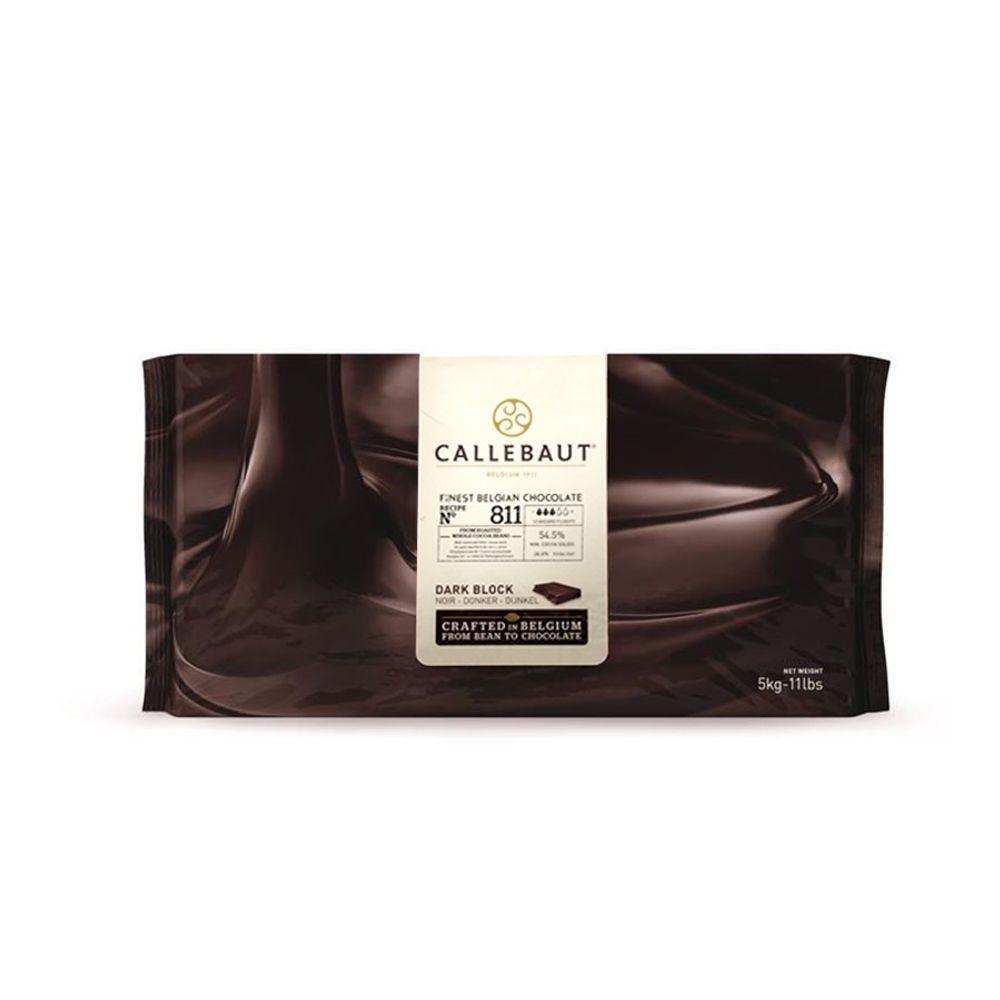 CHOCOLATE AMARGO 54,5% CACAU (811) BARRA - 5KG - CALLEBAUT  - Santa Bella