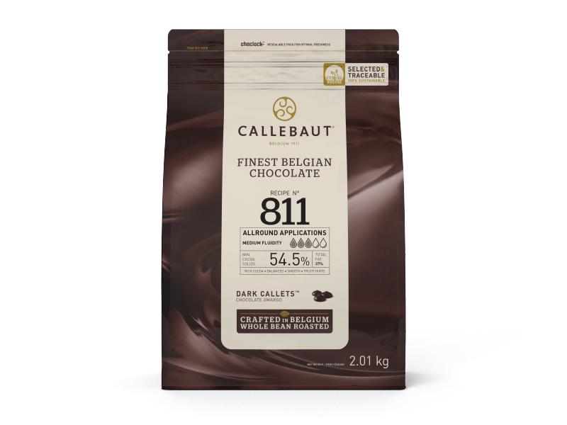 CHOCOLATE AMARGO 54,5% CACAU (811) EM GOTAS 2,01KG - CALLEBAUT  - Santa Bella