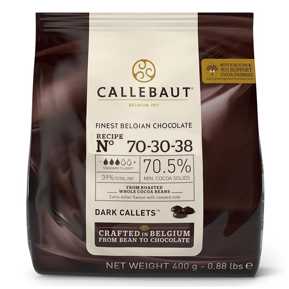 CHOCOLATE AMARGO 70,5%(70-30) EM GOTAS 400G - CALLEBAUT  - Santa Bella