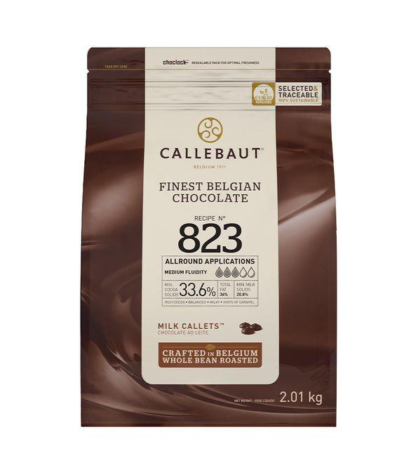 CHOCOLATE AO LEITE 33,6% CACAU (823) EM GOTAS 2,01 KG - CALLEBAUT  - Santa Bella