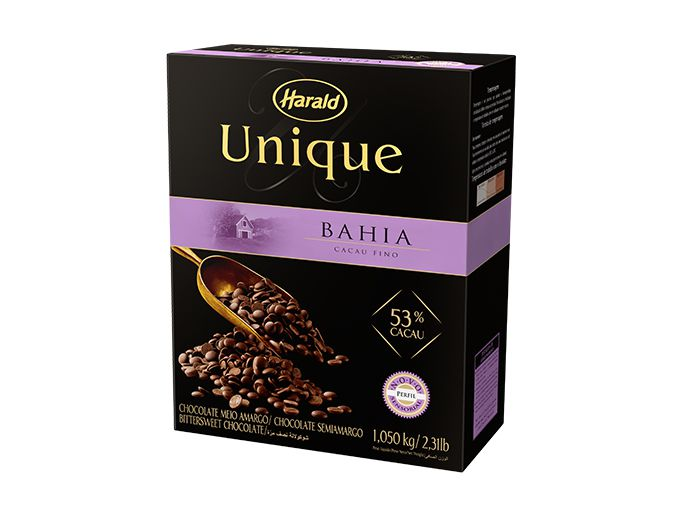 Chocolate Bahia 53% Unique Gotas 1,05kg - Harald  - Santa Bella