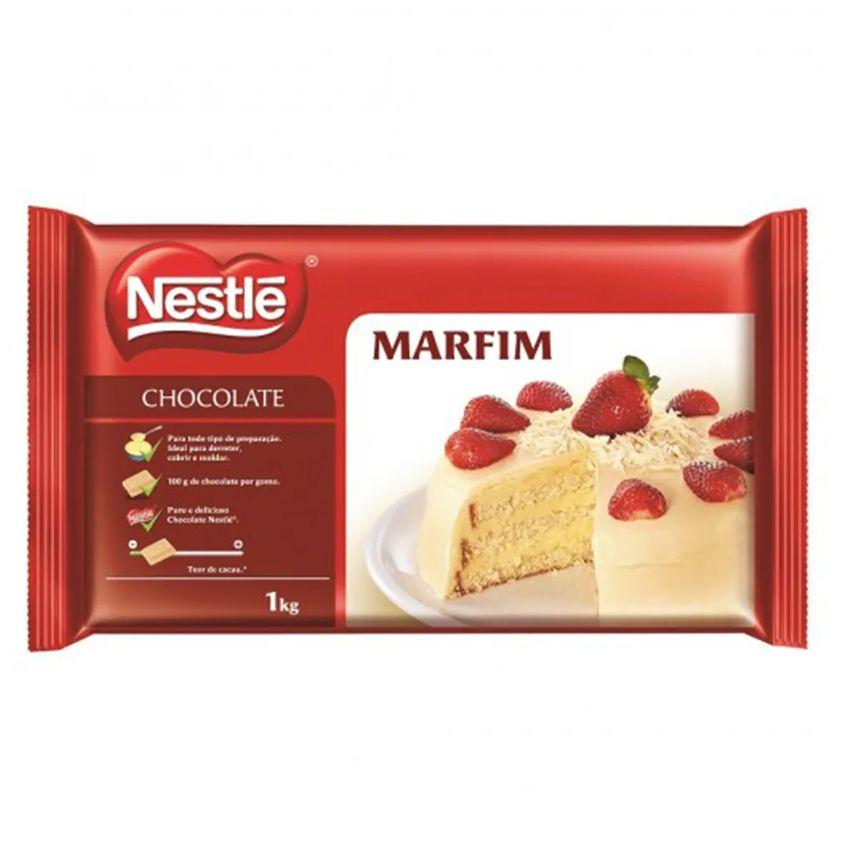 CHOCOLATE EM BARRA MARFIM 1KG - NESTLÉ  - Santa Bella