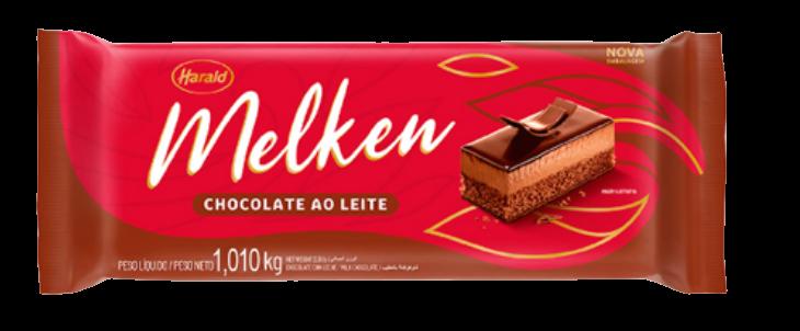 Chocolate Em Barra Melken Ao Leite 1,010kg - Harald  - Santa Bella