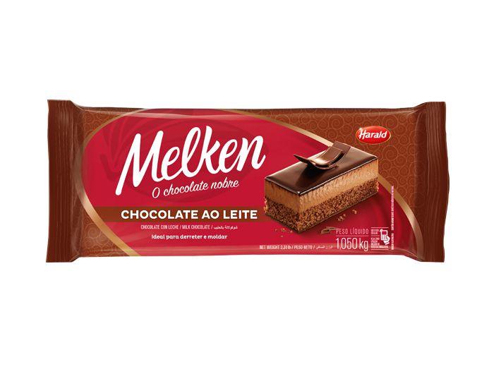 Chocolate Em Barra Melken Ao Leite 1,050kg - Harald  - Santa Bella