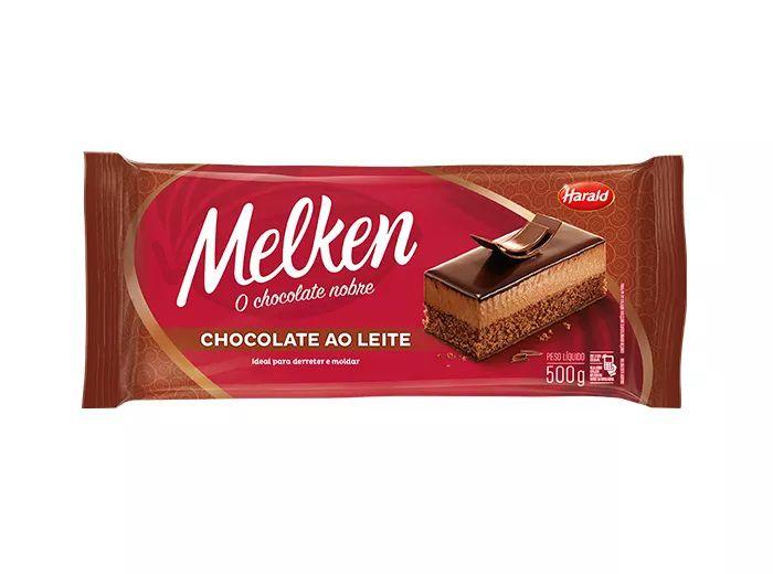 Chocolate Em Barra Melken Ao Leite 500g - Harald  - Santa Bella