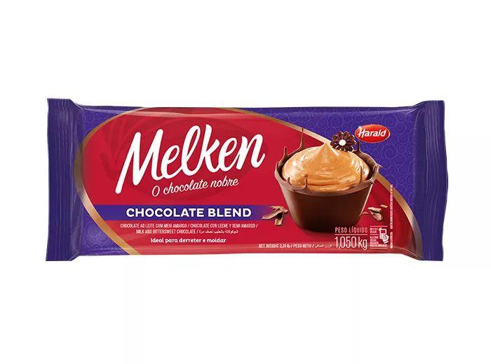 Chocolate Em Barra Melken Blend 1,050 Kg - Harald  - Santa Bella