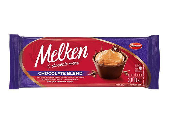 Chocolate Em Barra Melken Blend 2,1 Kg - Harald  - Santa Bella