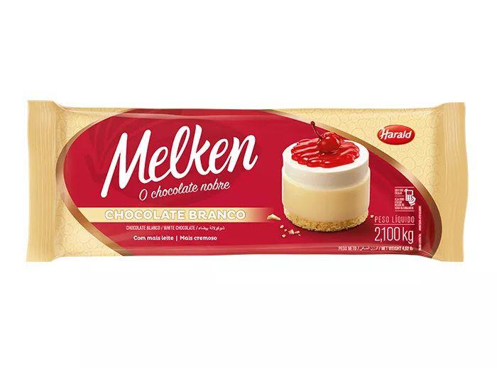 Chocolate Em Barra Melken Branco 2,1kg - Harald  - Santa Bella